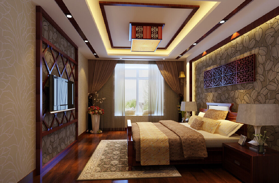 люстры для натяжных потолков в спальне китайский стиль