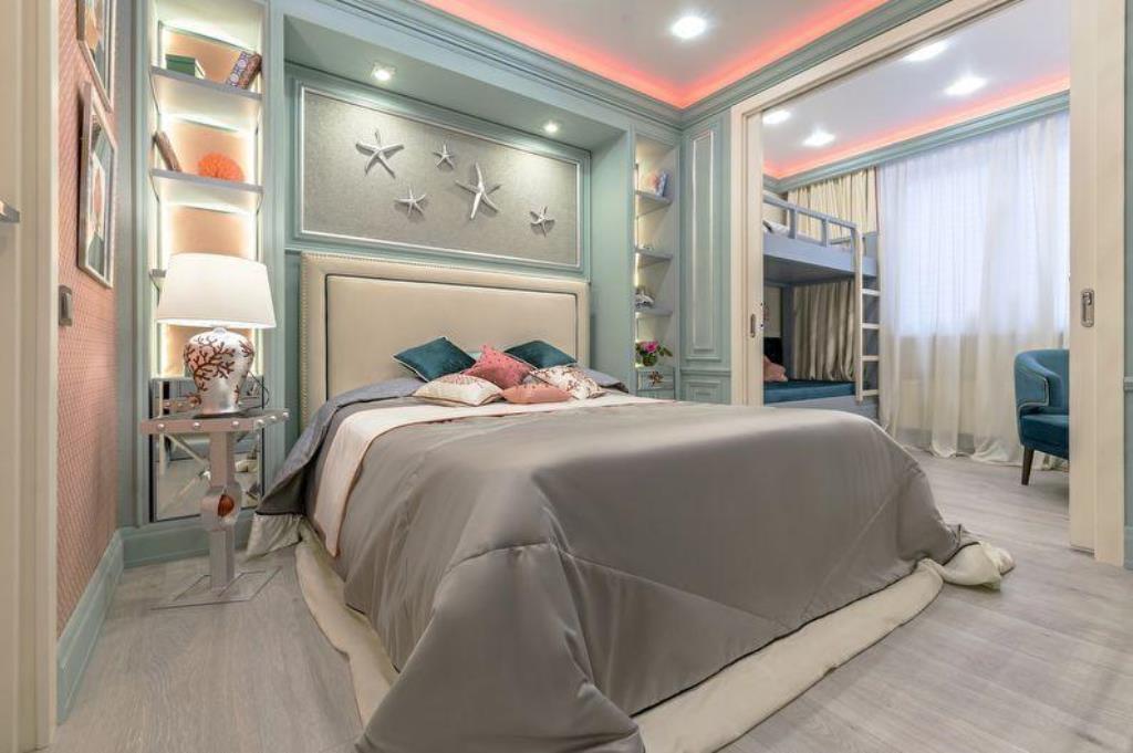 люстры для натяжных потолков в спальне с детской
