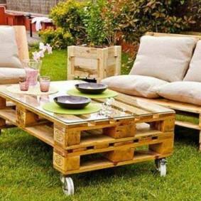 мебель для сада декор фото