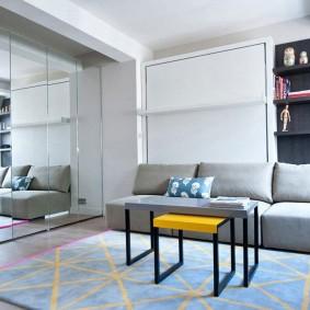Мебель-трансформер в интерьере спальни-гостиной