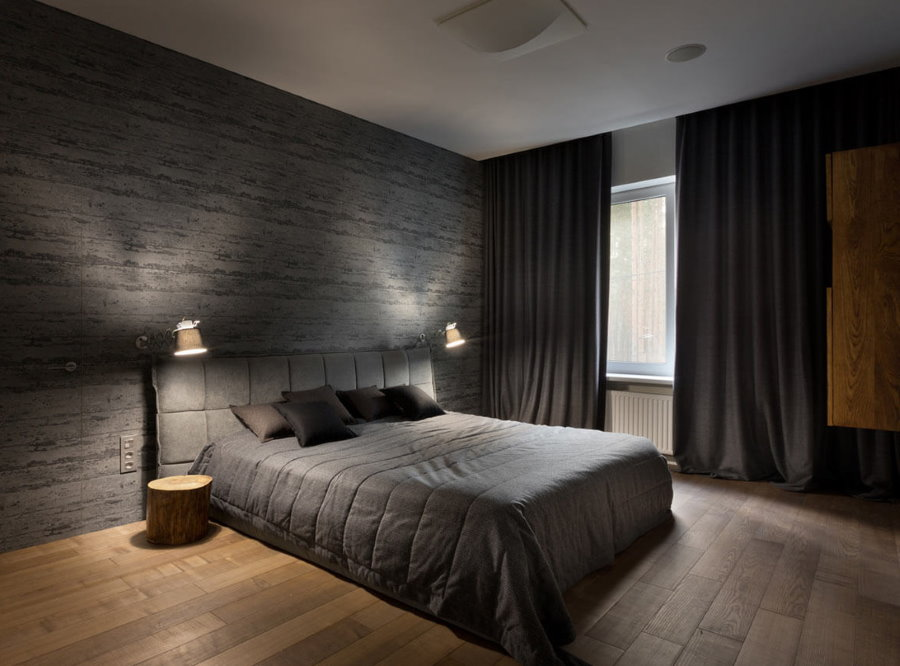 Деревянный пол в спальне для молодого человека