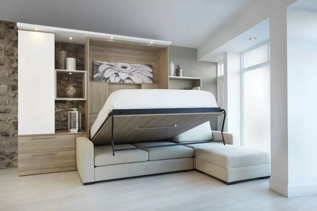 модульная конструкция с кроватью