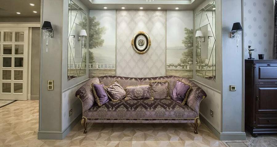 Роскошный диван в классическом стиле