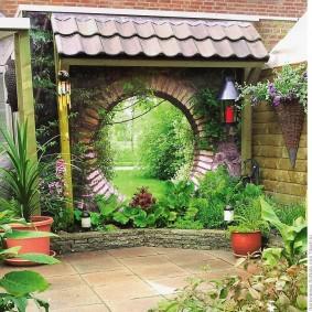 обустройство маленького сада фото декора