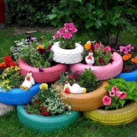 обустройство маленького сада варианты декора