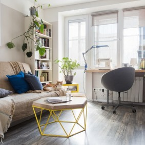обустройство маленькой комнаты идеи дизайн