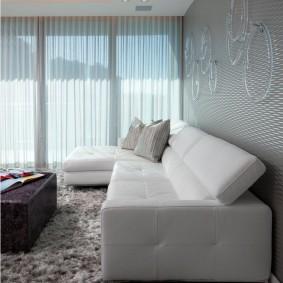 обустройство прямоугольной комнаты дизайн идеи