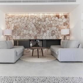 обустройство прямоугольной комнаты фото декор