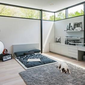 обустройство прямоугольной комнаты идеи декора