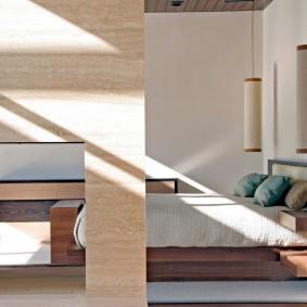 обустройство прямоугольной комнаты интерьер