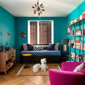 обустройство прямоугольной комнаты виды декора