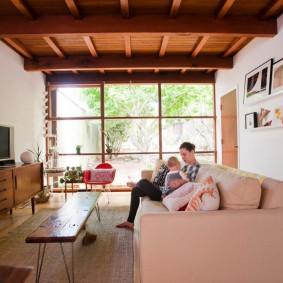 обустройство прямоугольной комнаты дизайн