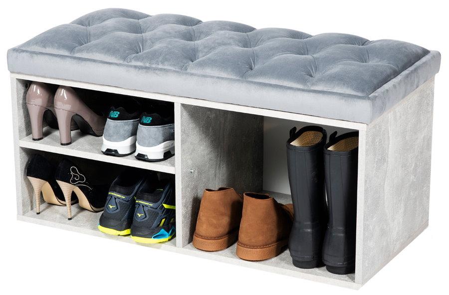 Обувница с сидением для различной обуви