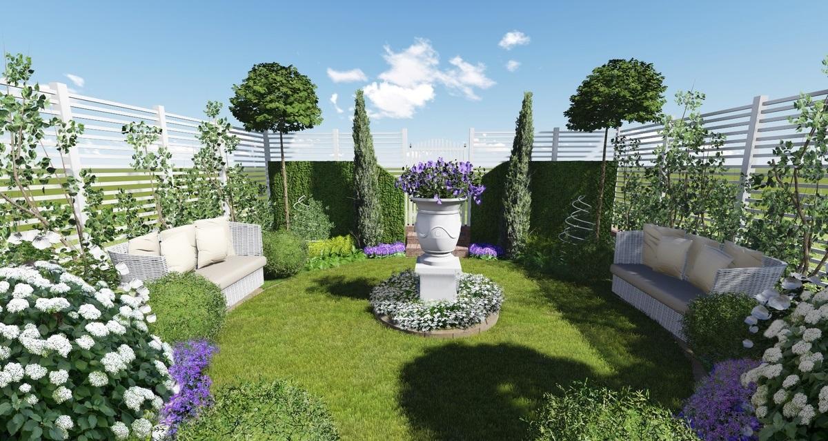 оформление маленького сада фото