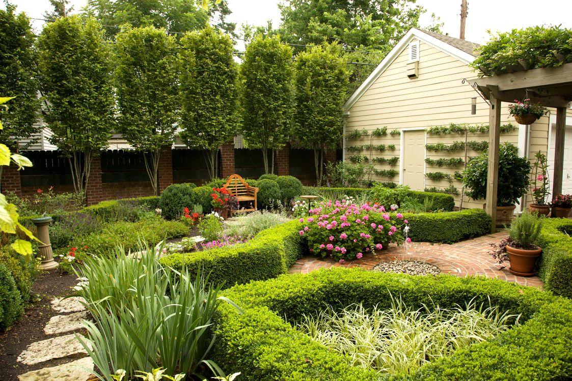 оформление маленького сада