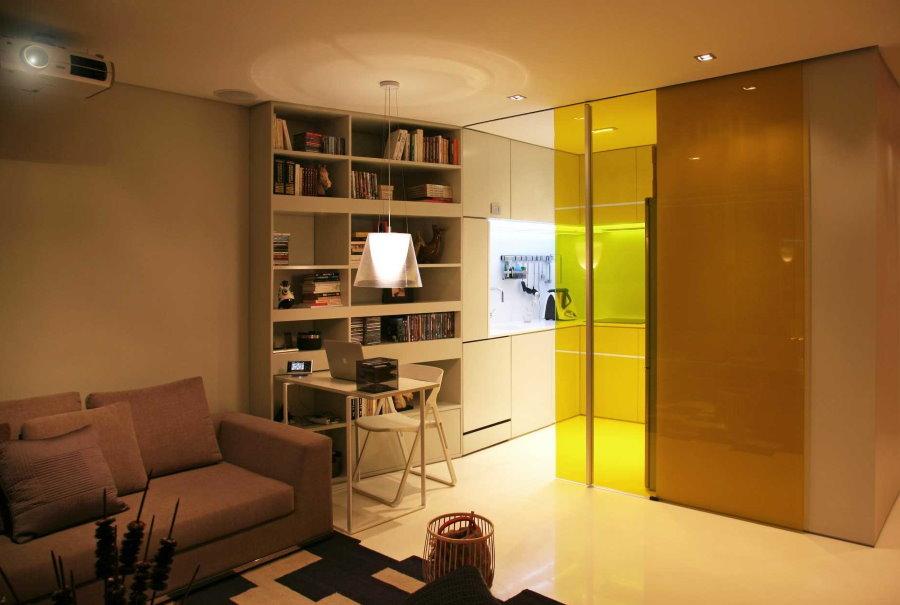 Освещение кухонной зоны в семейном общежитии