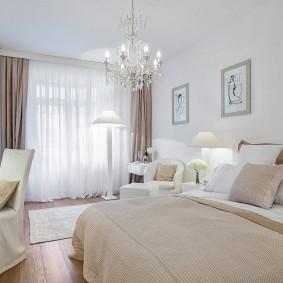 освещение в спальне декор фото