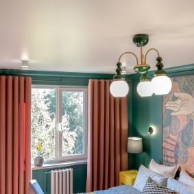 освещение в спальне варианты фото