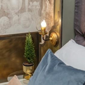 освещение в спальне фото варианты