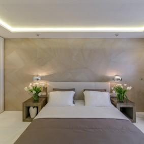 освещение в спальне виды декора