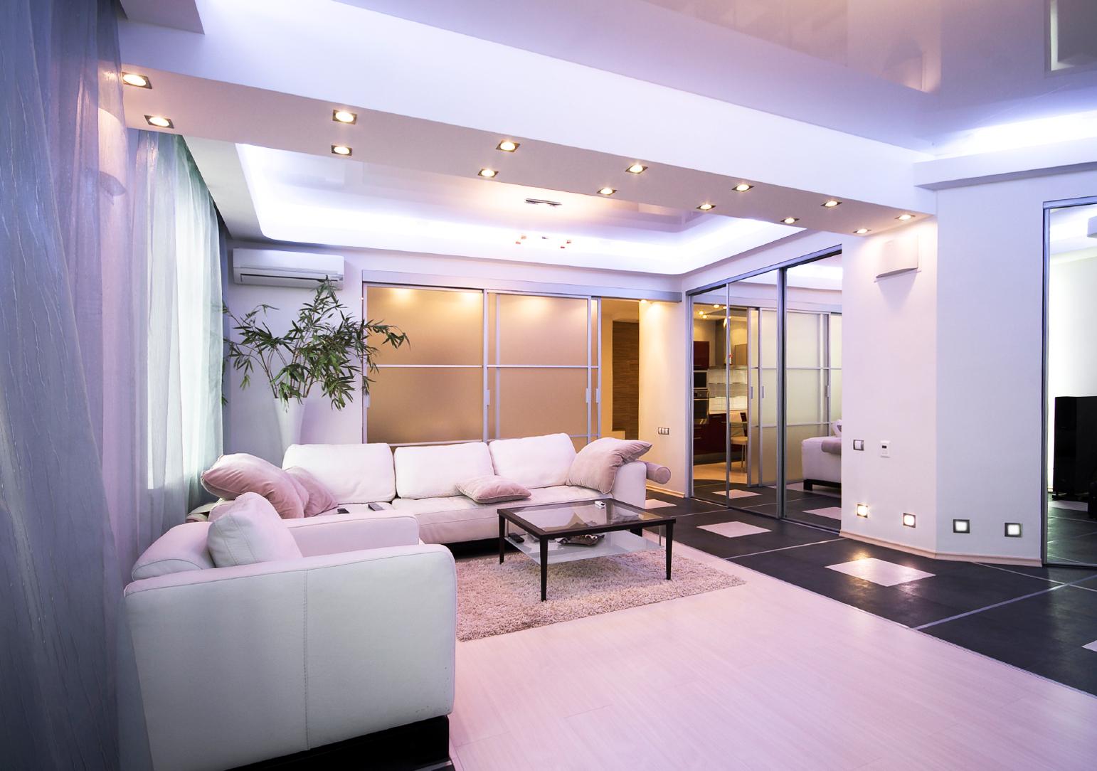 освещение комнат в квартире фото идеи