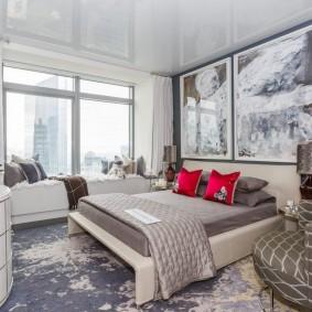 освещение спальни с натяжным потолком идеи дизайн