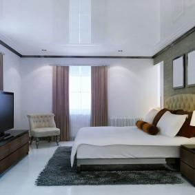освещение спальни с натяжным потолком идеи дизайна