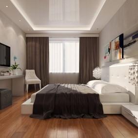 освещение спальни с натяжным потолком идеи декор