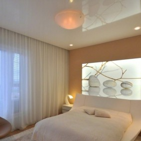 освещение спальни с натяжным потолком идеи декора