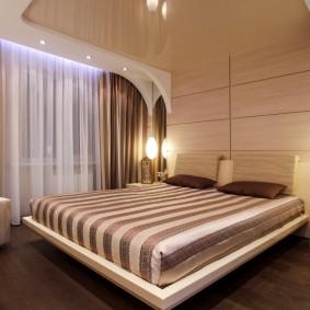 освещение спальни с натяжным потолком фото