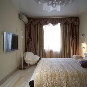 освещение спальни с натяжным потолком идеи интерьера