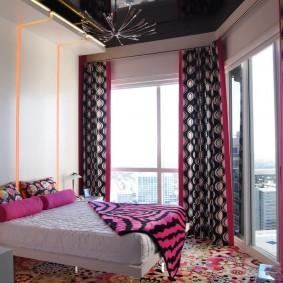 освещение спальни с натяжным потолком варианты