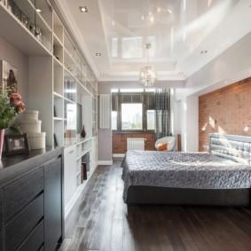 освещение спальни с натяжным потолком варианты фото