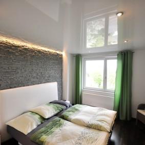 освещение спальни с натяжным потолком варианты идеи