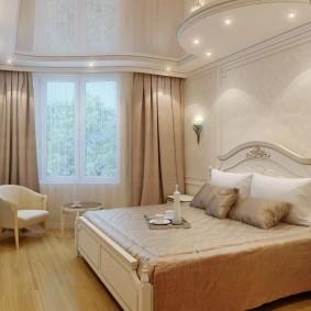 освещение спальни с натяжным потолком идеи фото