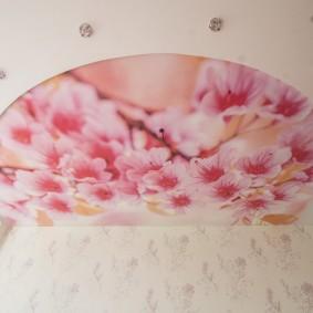 освещение спальни с натяжным потолком виды