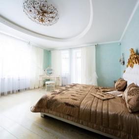 освещение спальни с натяжным потолком обзор