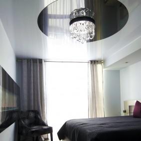 освещение спальни с натяжным потолком виды декора