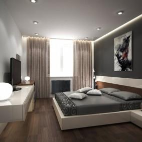 освещение спальни с натяжным потолком фото дизайн