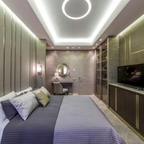 освещение в спальне фото дизайна