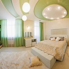 освещение в спальне с натяжным потолком идеи дизайн