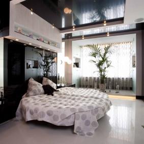 освещение в спальне с натяжным потолком идеи фото