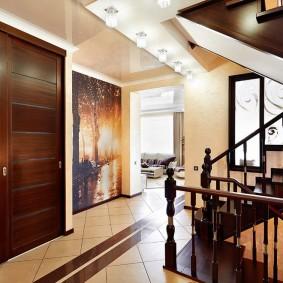 отделка стен прихожей в частном доме идеи декор