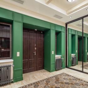 отделка стен прихожей в частном доме идеи интерьера