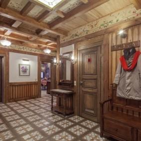 отделка стен прихожей в частном доме фото оформление