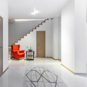 отделка стен прихожей в частном доме виды декора