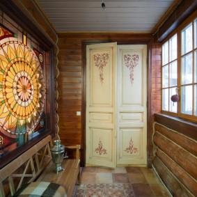 отделка стен прихожей в частном доме дизайн