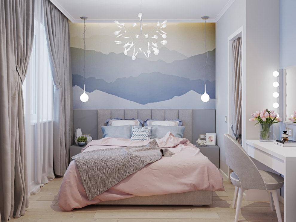 Красивая спальня с туалетным столиком