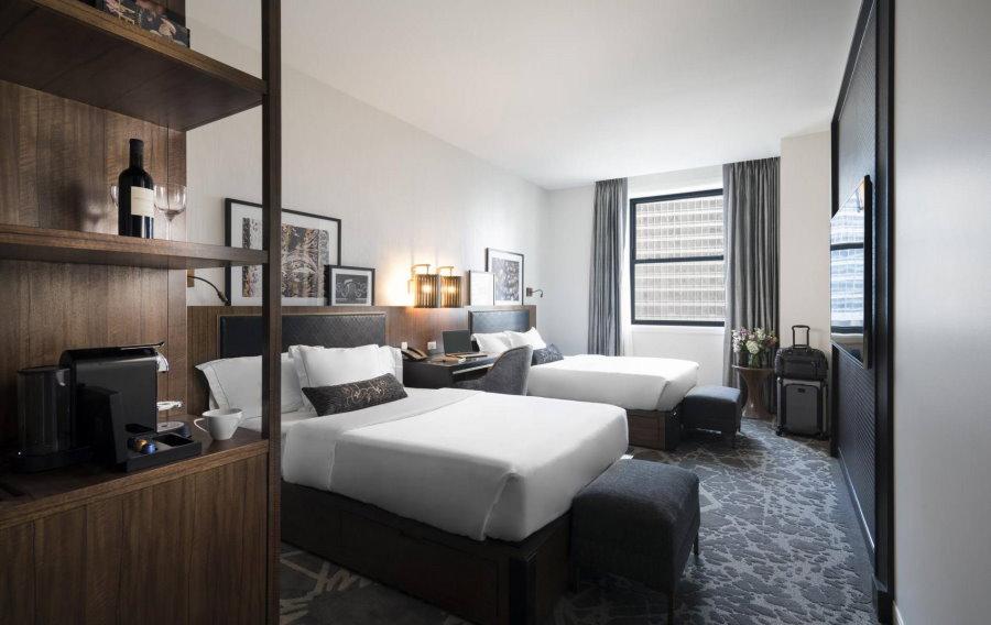 Расстановка кроватей в гостевой комнате
