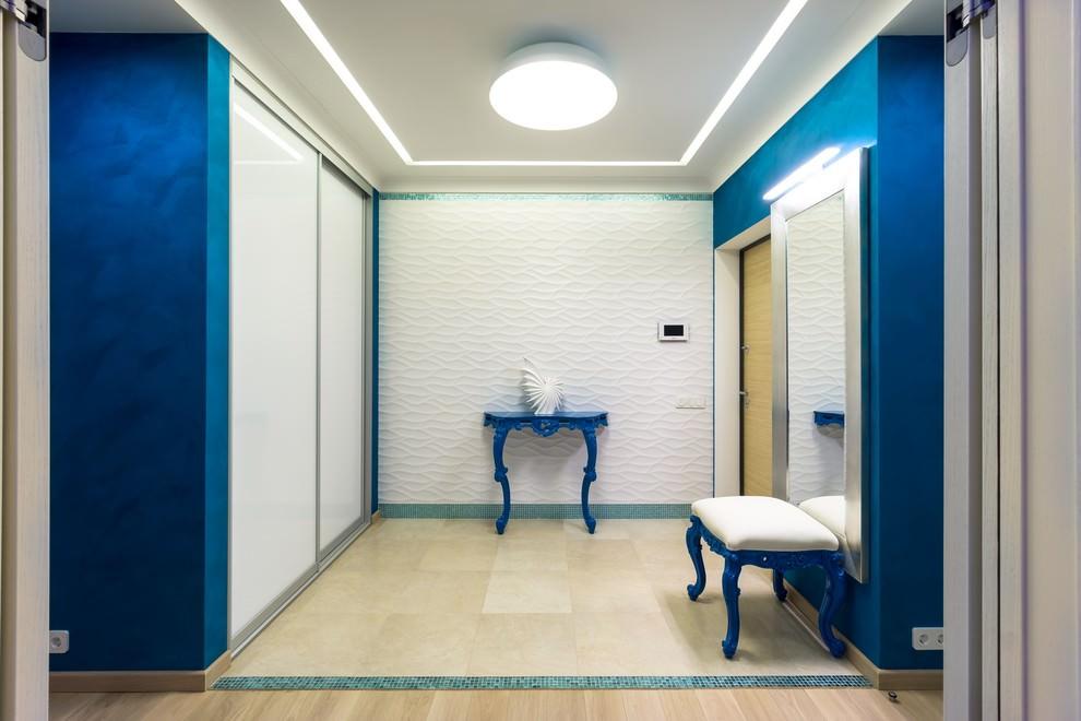 прихожая комната в морском стиле